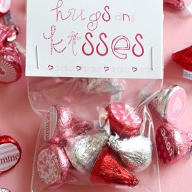 Valentine's Hershey Kisses Labels